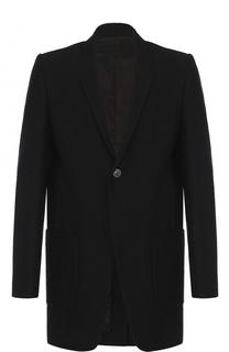 Удлиненный шерстяной пиджак Rick Owens