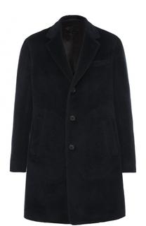 Шерстяное однобортное пальто с отложным воротником Caruso