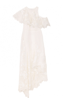 Шелковое платье асимметричного кроя Zimmermann