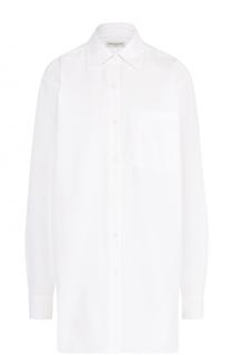 Удлиненная хлопковая блуза свободного кроя Dries Van Noten
