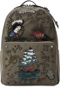 Текстильный рюкзак с вышивкой Valentino