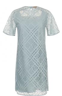 Кружевное мини-платье прямого кроя Burberry