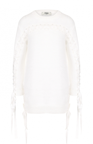 Вязаный пуловер с декоративной отделкой Fendi