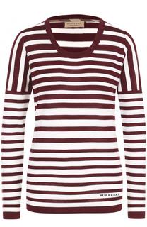Пуловер в полоску с круглым вырезом Burberry