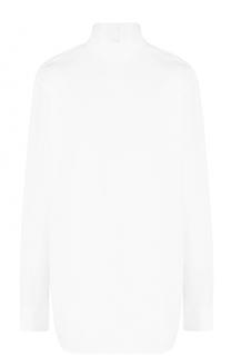 Удлиненная хлопковая блуза с воротником-стойкой Dries Van Noten