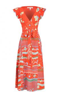 Приталенное мини-платье с ярким принтом Marc Jacobs