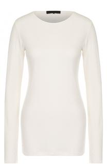 Удлиненный хлопковый пуловер с круглым вырезом The Row
