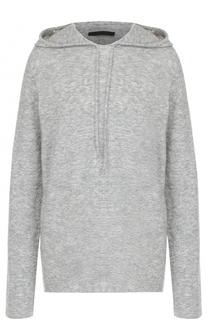 Кашемировый пуловер прямого кроя с капюшоном The Row