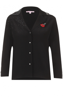 Шелковая блуза с укороченным рукавом Olympia Le-Tan