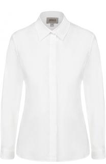 Хлопковая приталенная блуза Armani Collezioni