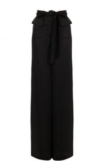 Шелковые широкие брюки с бантами Valentino