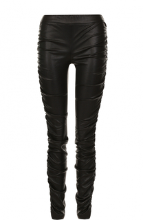 Кожаные брюки-скинни с драпировкой The Row