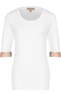 Хлопковая футболка с удлиненным рукавом Burberry