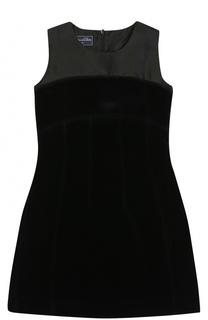Мини-платье из смеси хлопка и шелка с бантом Oscar de la Renta