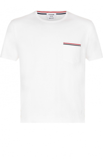 Хлопковая футболка с круглым вырезом Thom Browne
