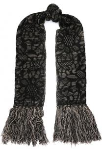 Шерстяной шарф с бахромой M Missoni