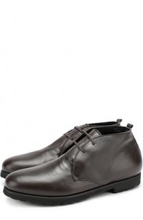 Кожаные ботинки на шнуровке с внутренней меховой отделкой Rocco P.