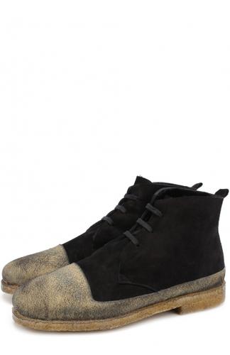 Высокие замшевые ботинки на шнуровке с внутренней меховой отделкой Rocco P.