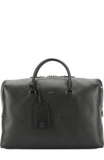 Кожаная дорожная сумка с плечевым ремнем Lanvin