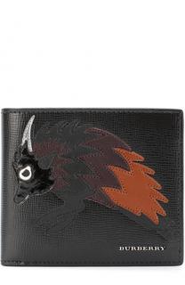 Кожаное портмоне с аппликацией и отделениями для кредитных карт Burberry