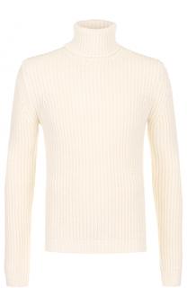 Шерстяной свитер с воротником-стойкой MSGM