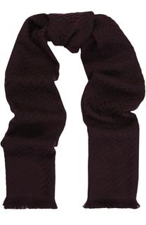 Шерстяной шарф с необработанным краем Canali