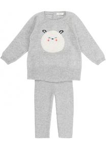 Шерстяной комплект из свитера и брюк с принтом Baby T