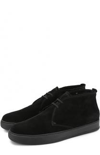 Замшевые ботинки на шнуровке с внутренней меховой отделкой H`D`S`N Baracco