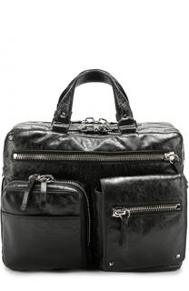 Кожаная дорожная сумка с плечевым ремнем Valentino
