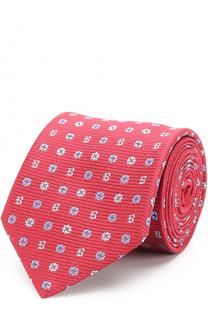 Шелковый галстук с узором Brioni
