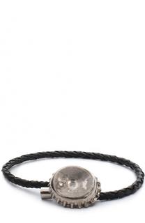 Плетеный кожаный браслет Alexander McQueen