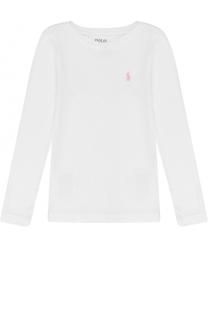 Лонгслив джерси с логотипом бренда Polo Ralph Lauren