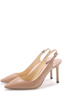 Кожаные туфли Erin 85 на шпильке Jimmy Choo