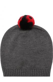 Шерстяная шапка с помпоном Dolce & Gabbana