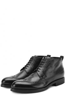Кожаные ботинки на шнуровке с брогированием Aldo Brue