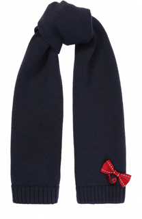 Шерстяной шарф с декором Dolce & Gabbana