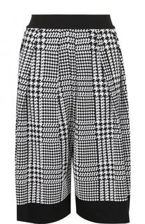 Укороченные брюки с принтом гусиная лапка Balmain