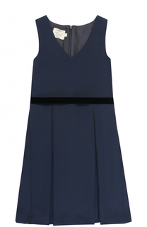 Приталенное платье с защипами и поясом Caf