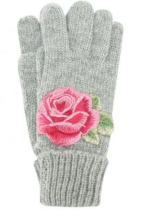 Вязаные перчатки с аппликацией Monnalisa