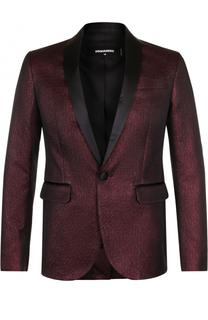 Вечерний пиджак из смеси хлопка и шелка Dsquared2