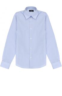 Хлопковая рубашка прямого кроя в полоску Dal Lago