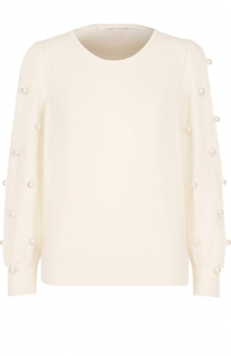 Пуловер из смеси шерсти и кашемира с декором Marc Jacobs