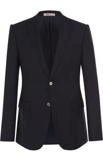Шерстяной приталенный пиджак Armani Collezioni