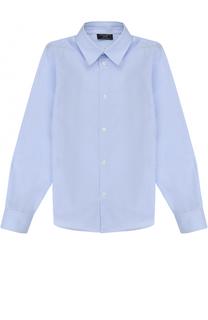 Хлопковая рубашка прямого кроя в клетку Dal Lago