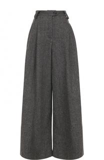 Шерстяные широкие брюки с защипами Walk of Shame