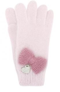 Вязаные перчатки с бантом Monnalisa