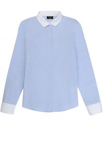 Хлопковая блуза прямого кроя Dal Lago
