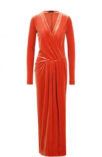 Бархатное платье-макси с драпировкой By Malene Birger