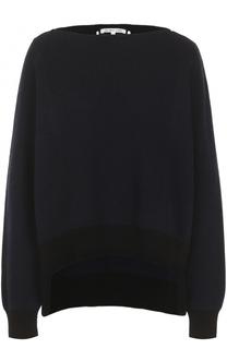 Пуловер свободного кроя с вырезом-лодочка Helmut Lang