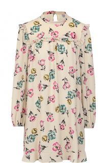 Мини-платье свободного кроя с цветочным принтом REDVALENTINO